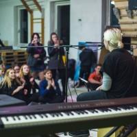 Při hře začínajících hudebníků panovala opravdu pohodová atmosféra