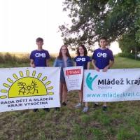 """Členové pracovní skupiny projektu """"Kosička"""" děkují Radě dětí a mládeže kraje Vysočina a organizaci Mládež kraji!"""